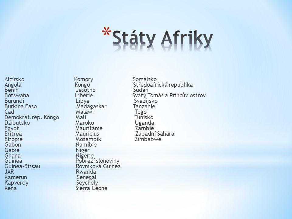 Státy Afriky