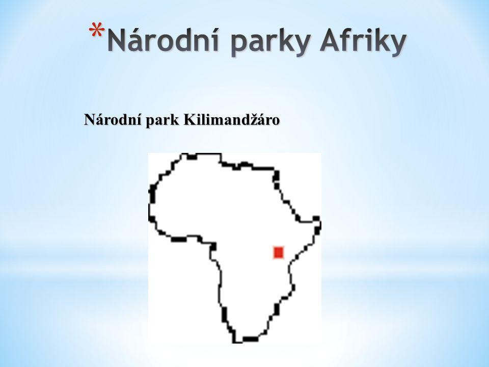 Národní parky Afriky Národní park Kilimandžáro