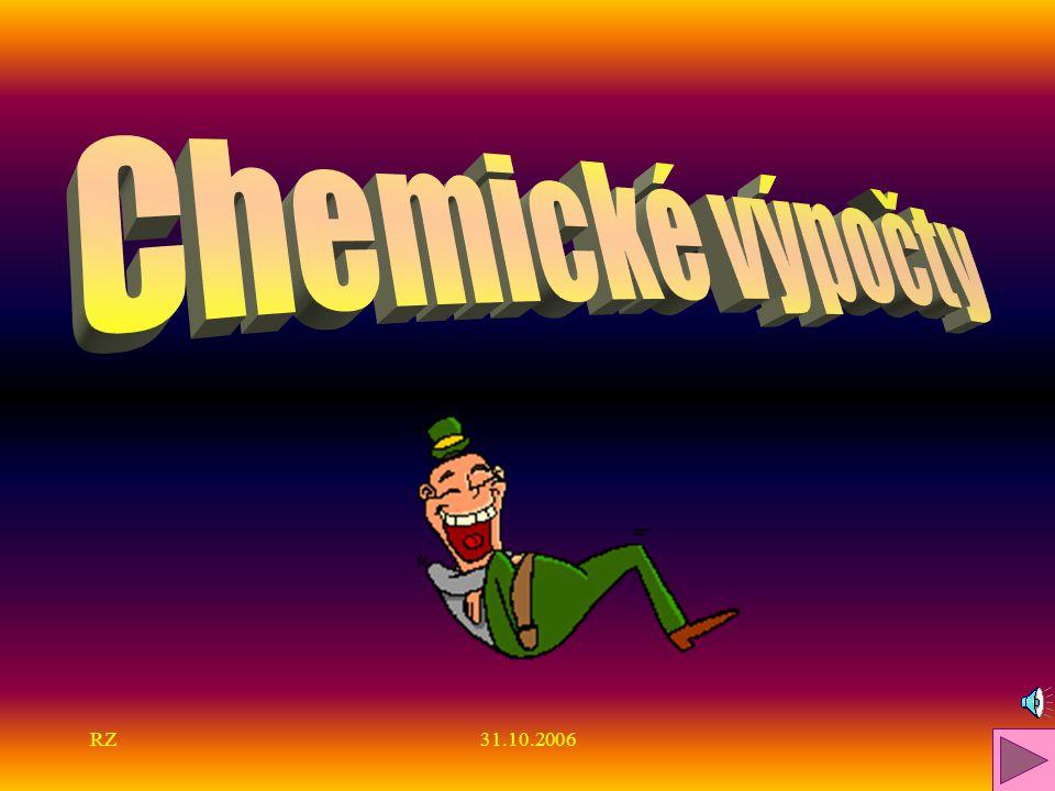 Chemické výpočty RZ 31.10.2006