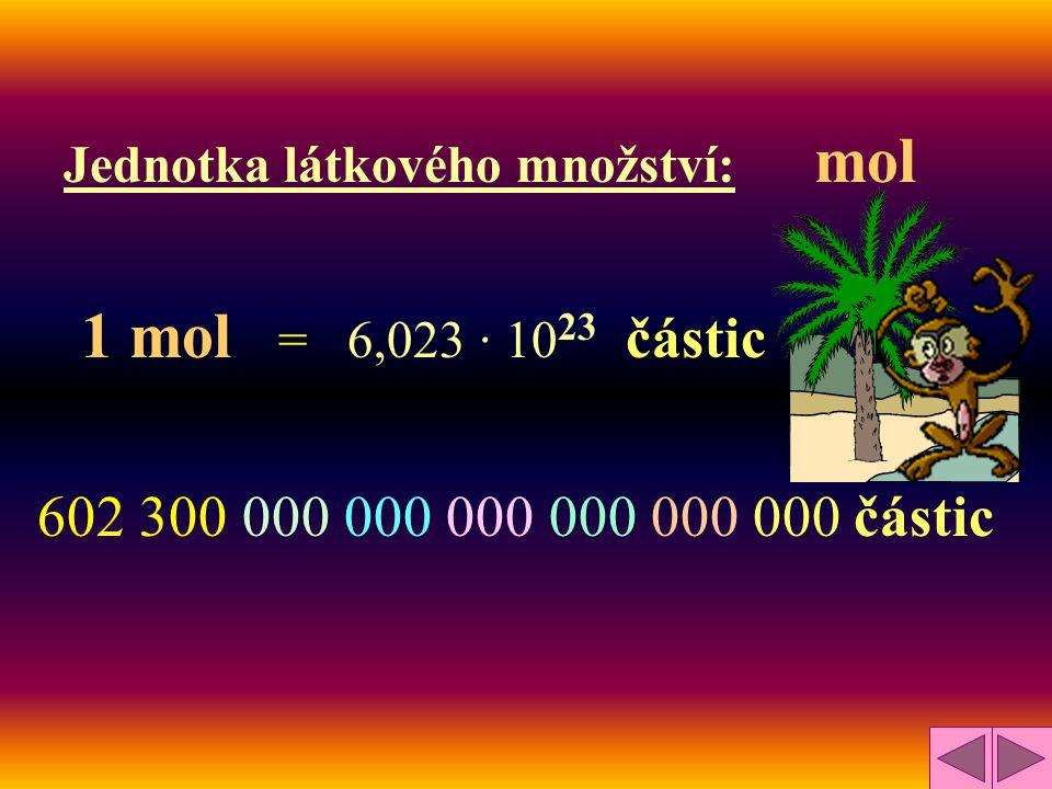 Jednotka látkového množství: mol