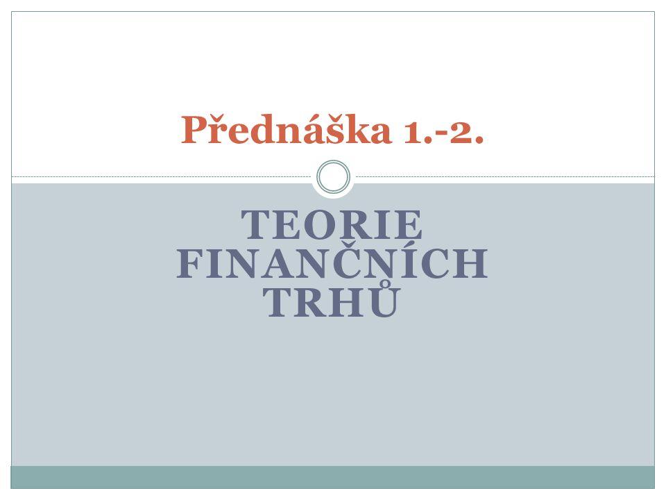 Teorie finančních trhů
