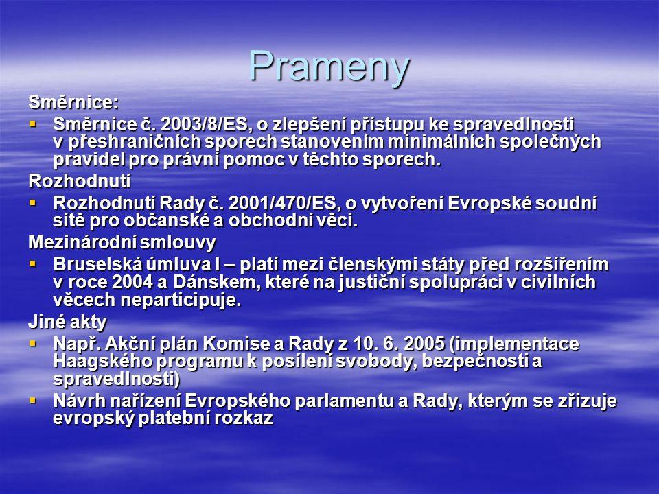 Prameny Směrnice: