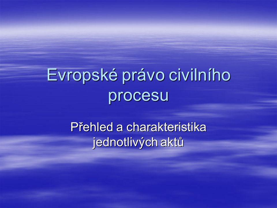 Evropské právo civilního procesu