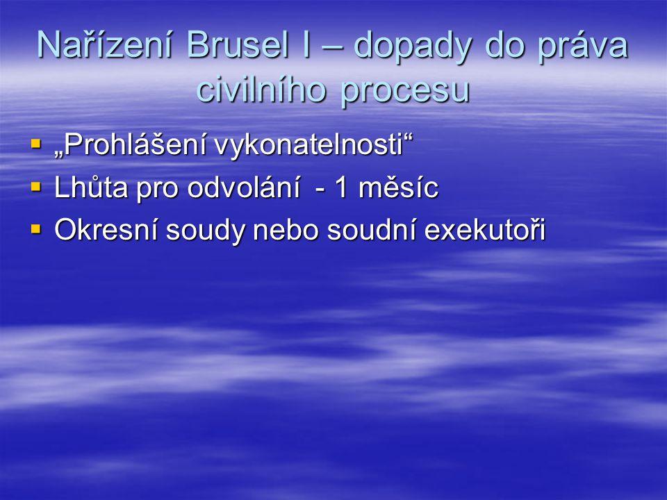 Nařízení Brusel I – dopady do práva civilního procesu