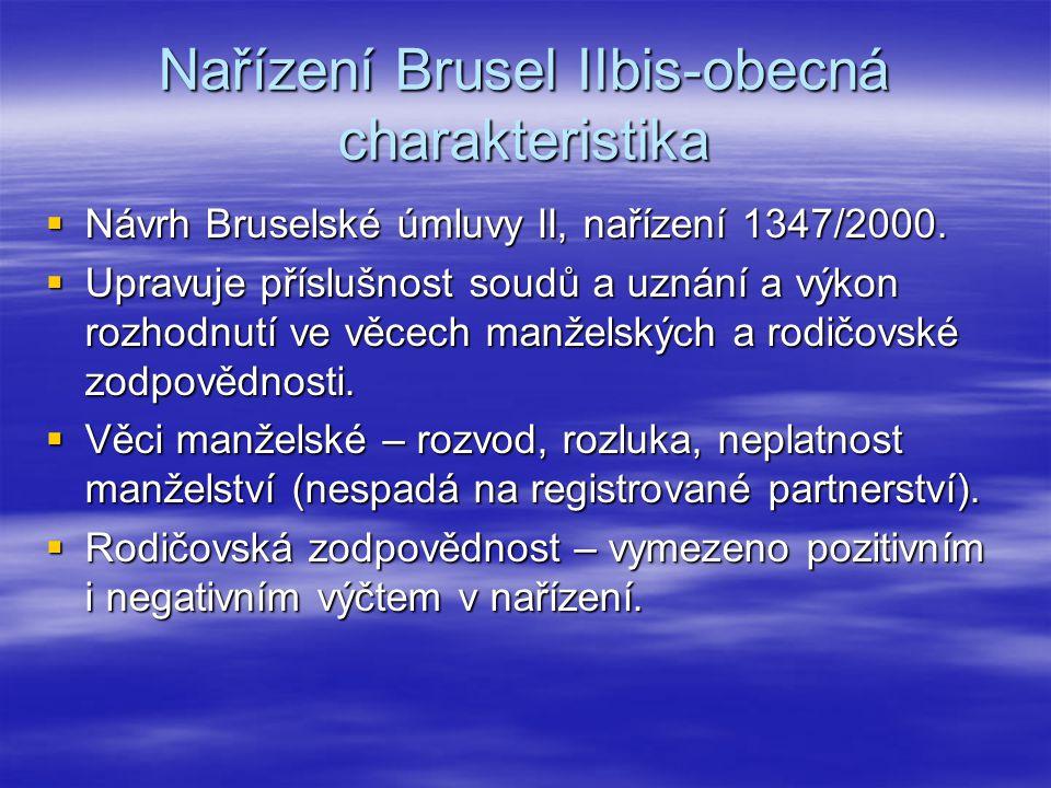 Nařízení Brusel IIbis-obecná charakteristika