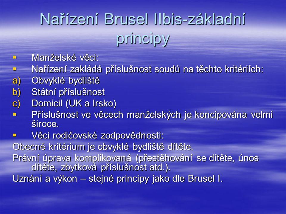 Nařízení Brusel IIbis-základní principy