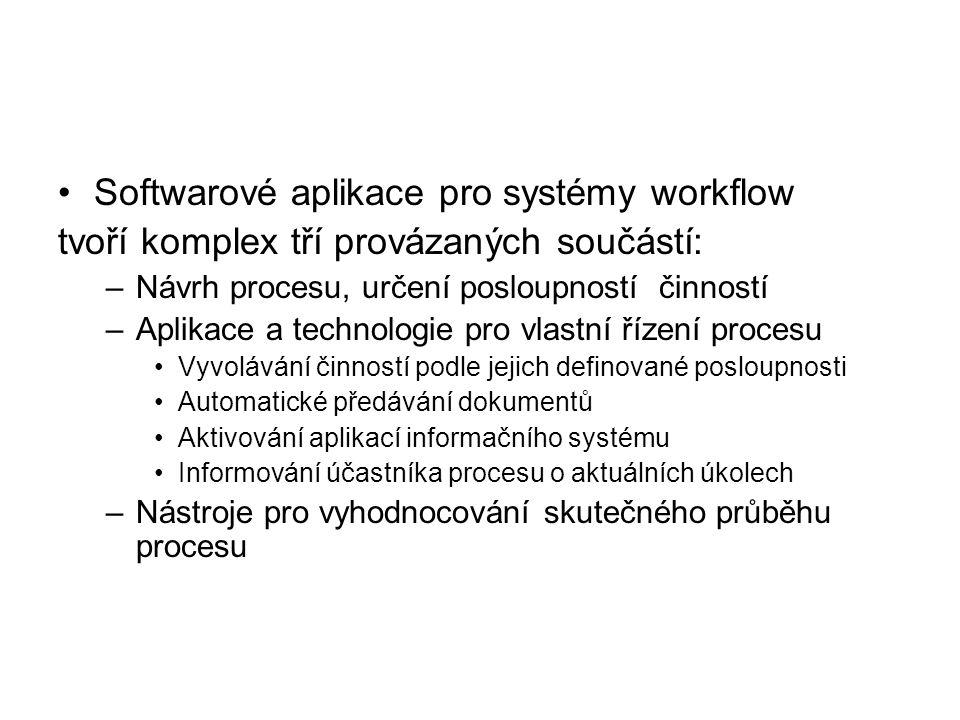 Softwarové aplikace pro systémy workflow