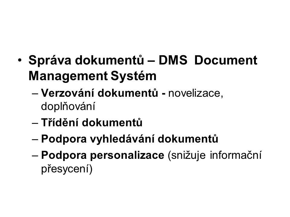 Správa dokumentů – DMS Document Management Systém