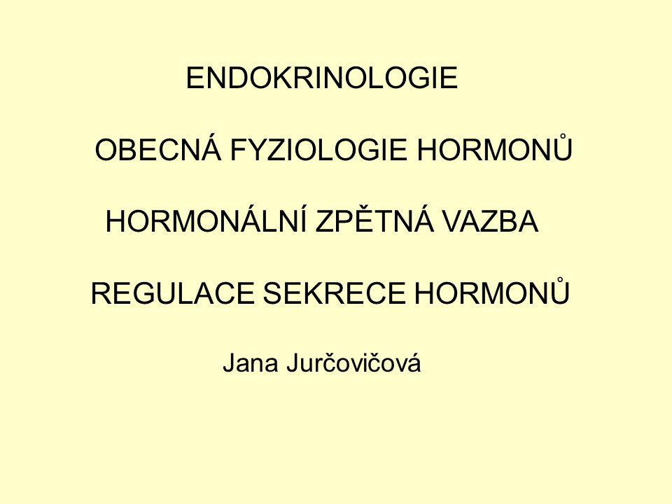 OBECNÁ FYZIOLOGIE HORMONŮ HORMONÁLNÍ ZPĚTNÁ VAZBA