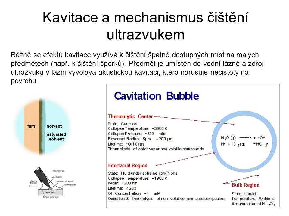 Kavitace a mechanismus čištění ultrazvukem