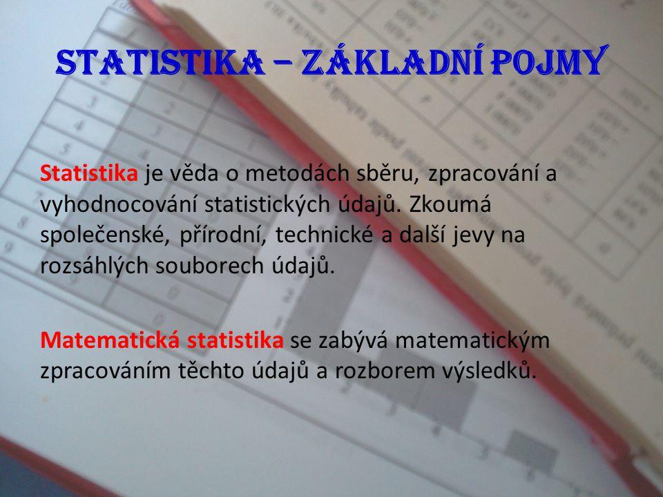 Statistika – základní pojmy