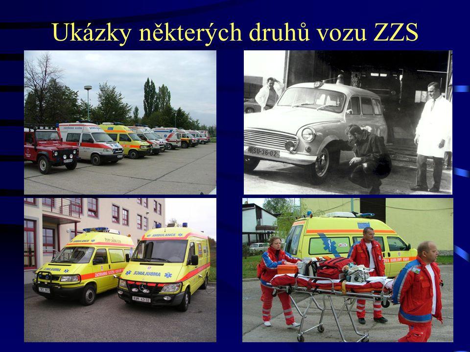 Ukázky některých druhů vozu ZZS