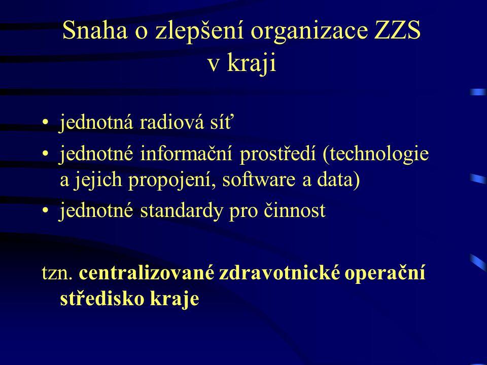 Snaha o zlepšení organizace ZZS v kraji