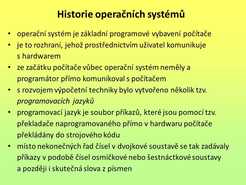Historie operačních systémů