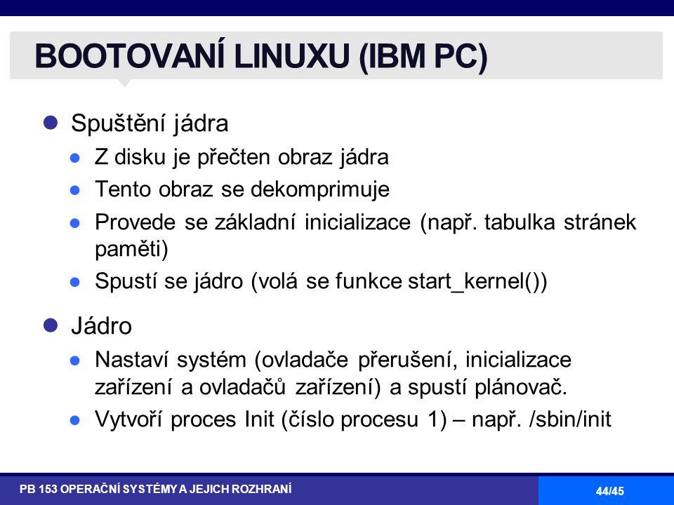 BOOTOVANÍ LINUXU (IBM PC)