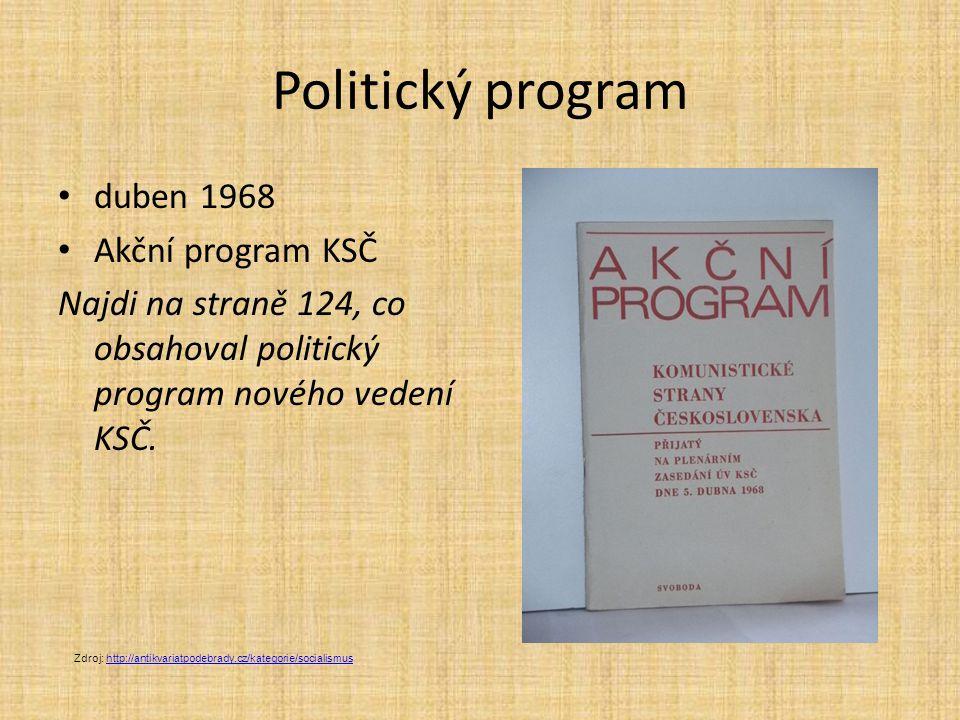 Politický program duben 1968 Akční program KSČ