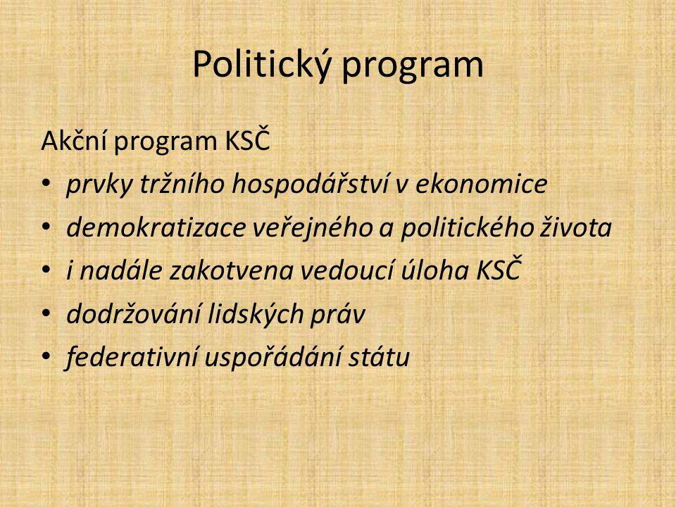 Politický program Akční program KSČ