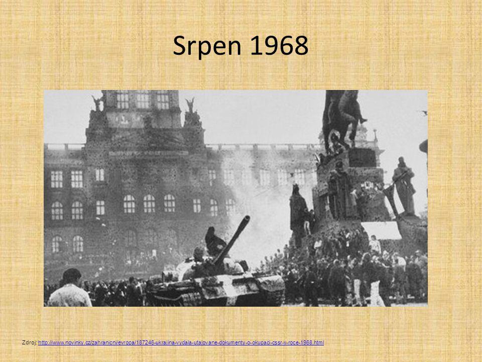 Srpen 1968 Zdroj: http://www.novinky.cz/zahranicni/evropa/187246-ukrajina-vydala-utajovane-dokumenty-o-okupaci-cssr-v-roce-1968.html.