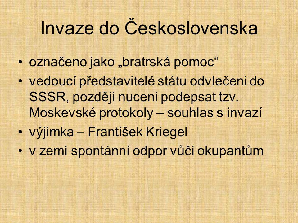 Invaze do Československa