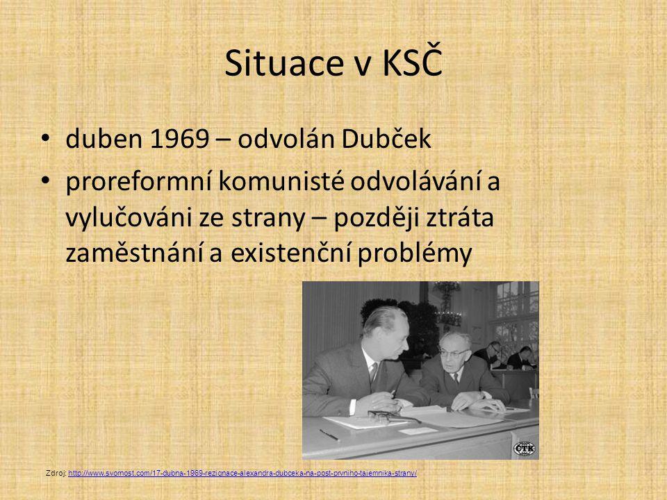 Situace v KSČ duben 1969 – odvolán Dubček