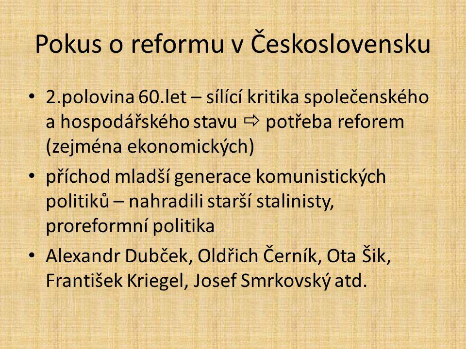 Pokus o reformu v Československu