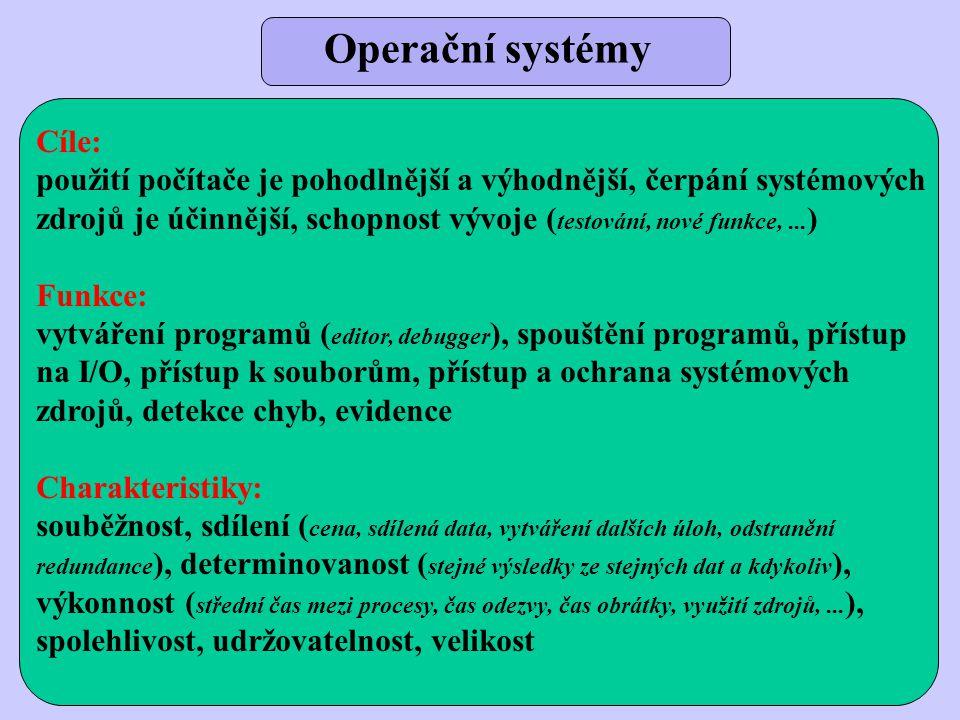 Operační systémy Cíle:
