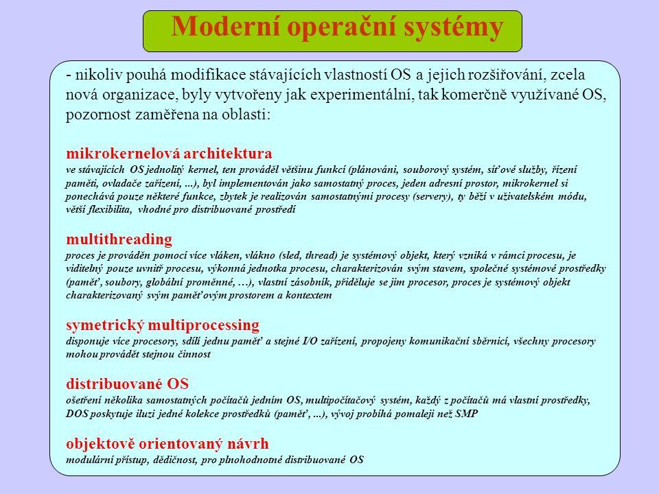 Moderní operační systémy