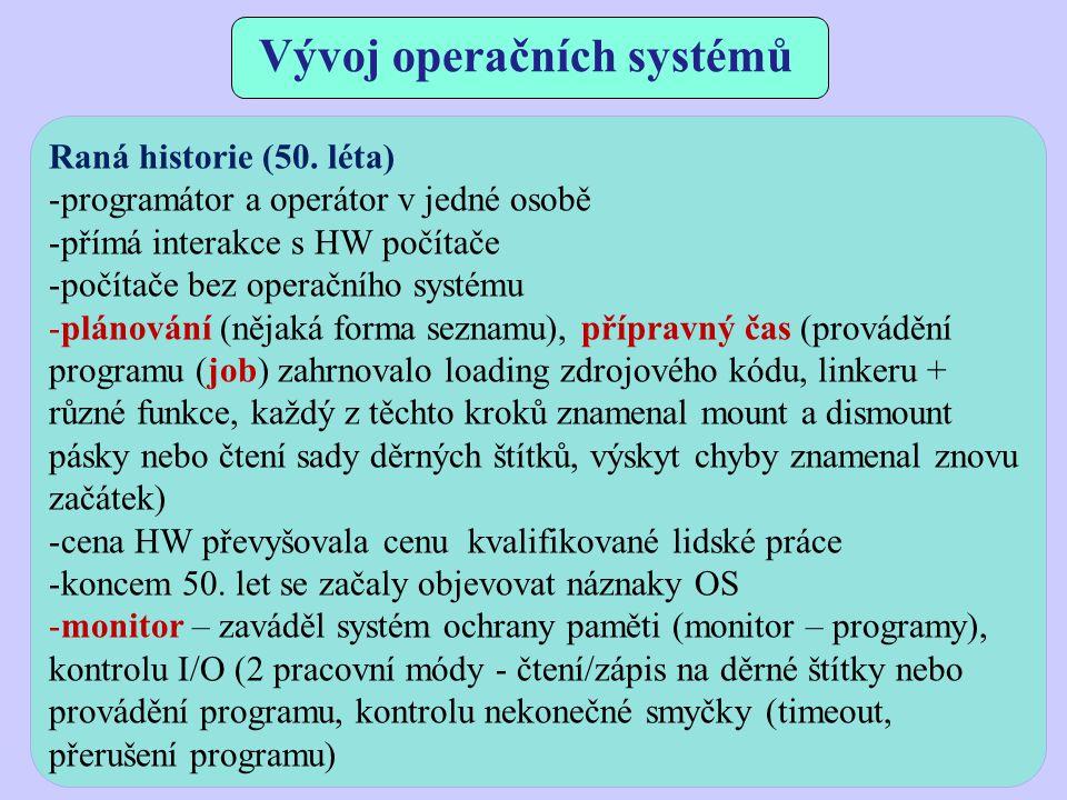 Vývoj operačních systémů