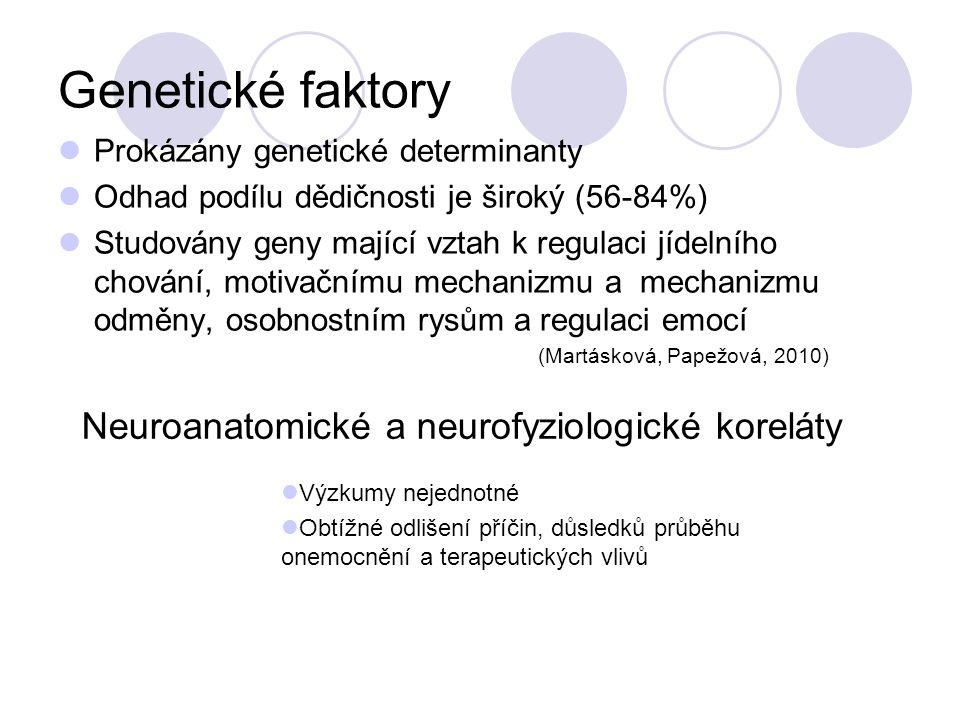 Genetické faktory Neuroanatomické a neurofyziologické koreláty