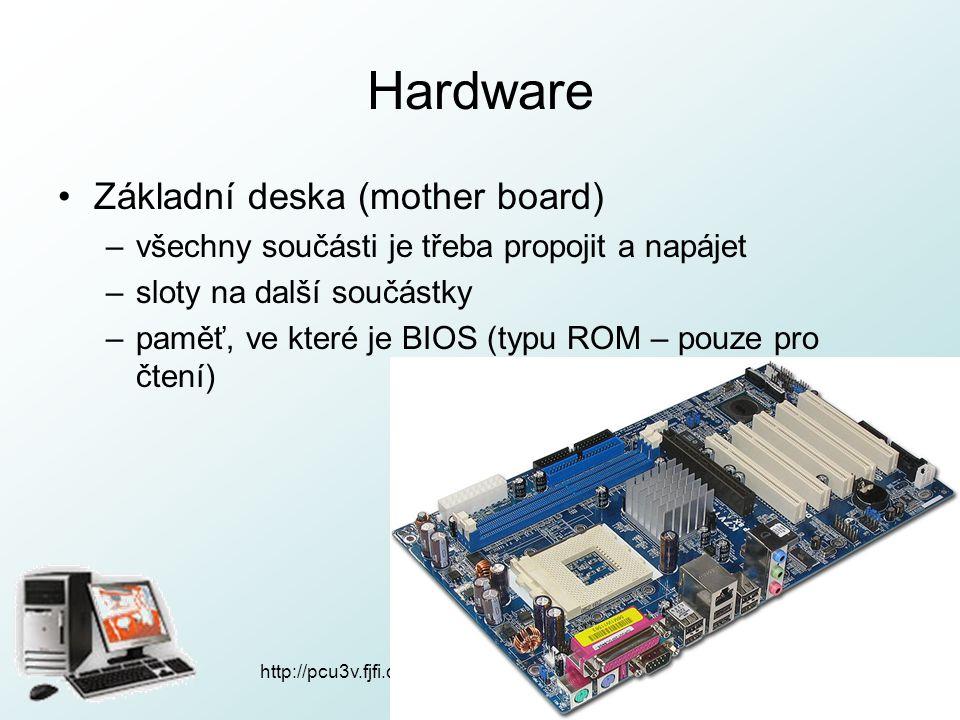 Hardware Základní deska (mother board)