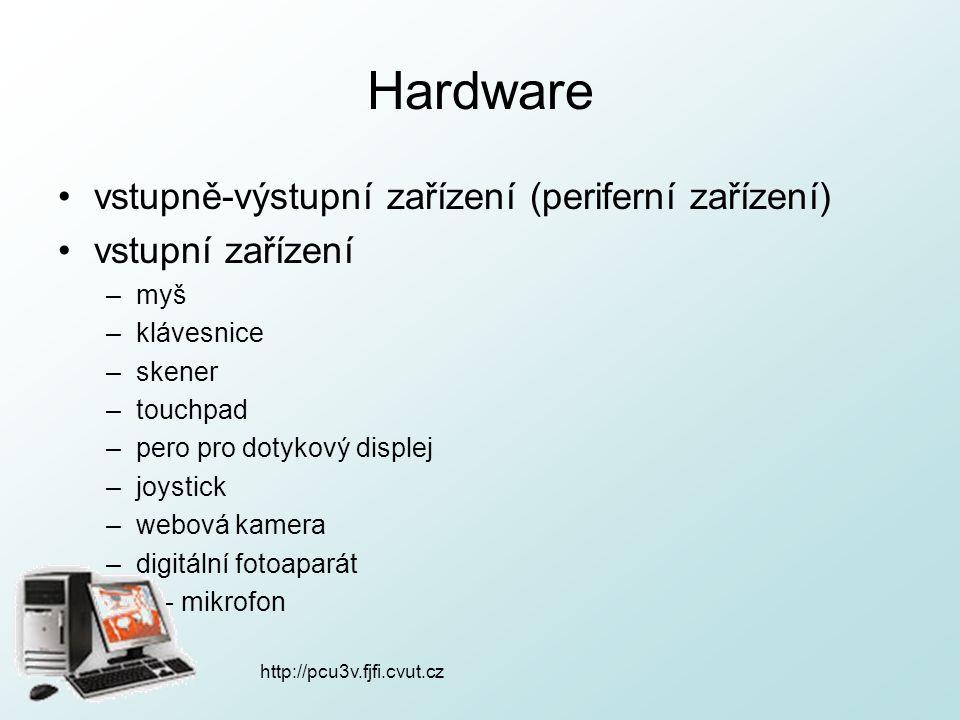 Hardware vstupně-výstupní zařízení (periferní zařízení)