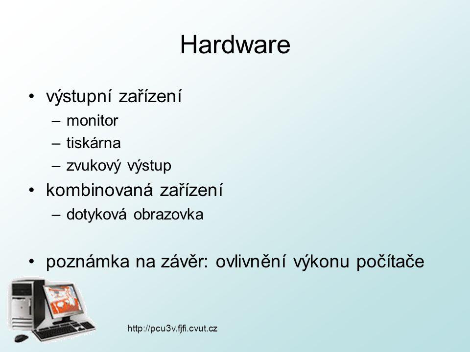Hardware výstupní zařízení kombinovaná zařízení