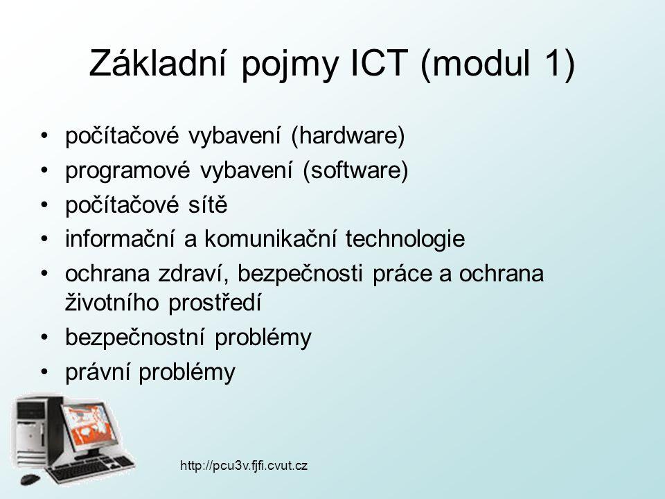 Základní pojmy ICT (modul 1)