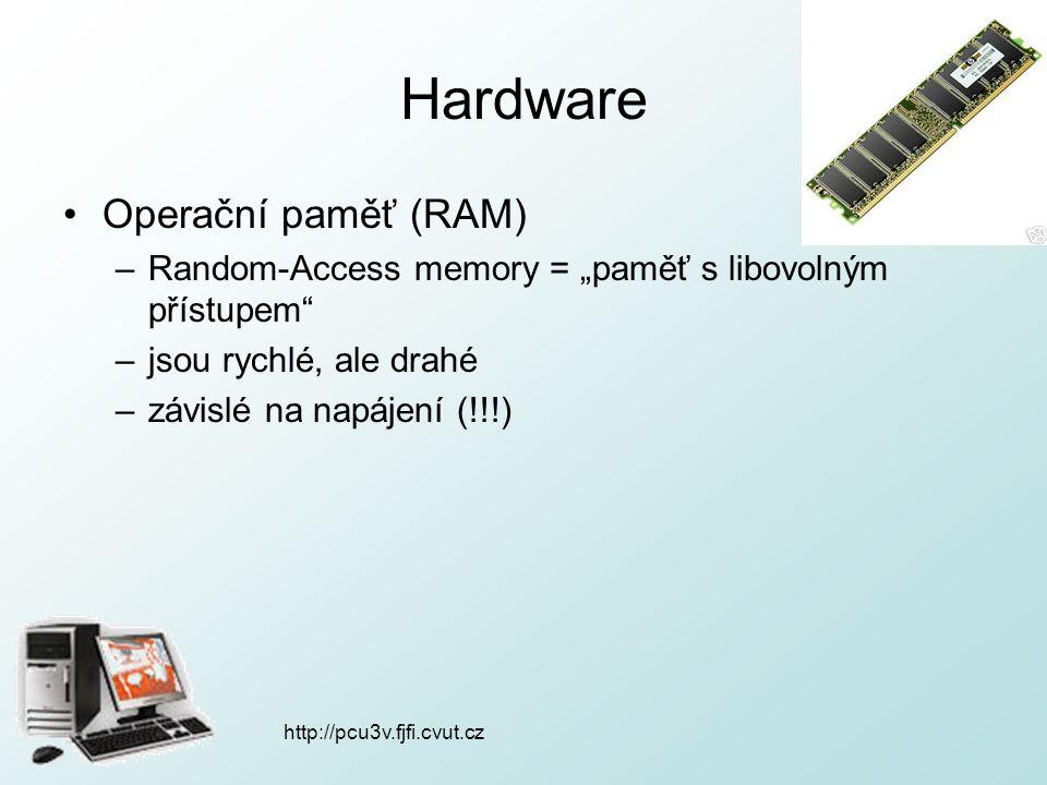 Hardware Operační paměť (RAM)
