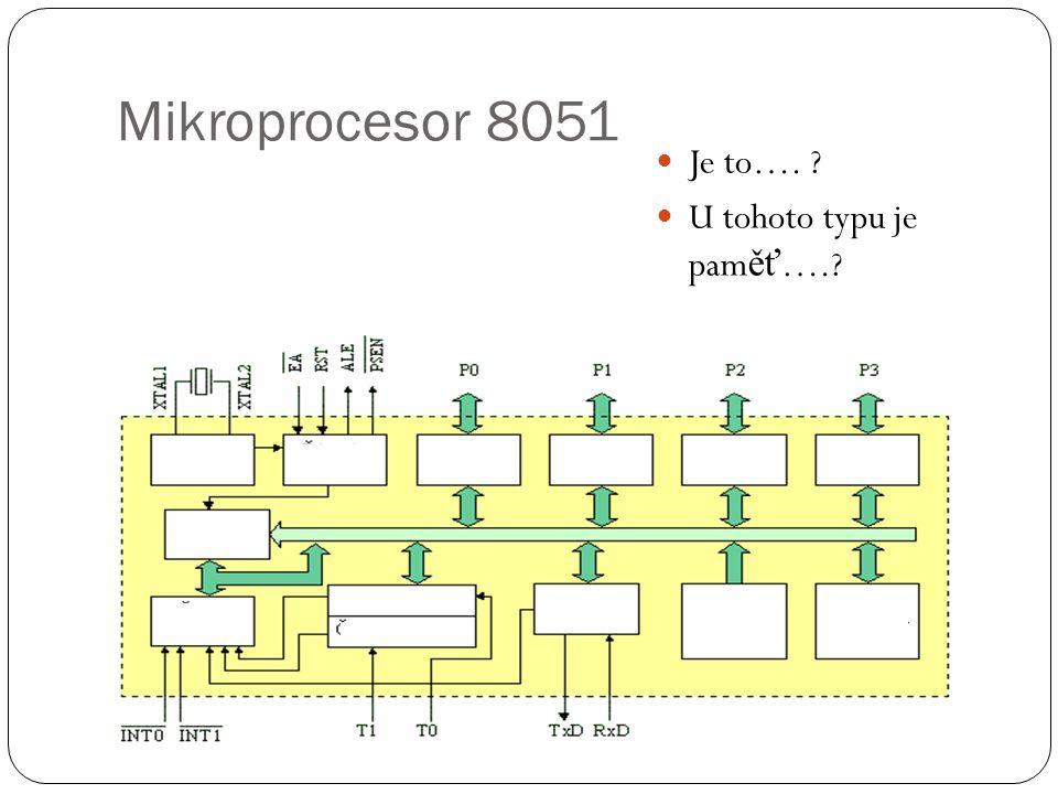 Mikroprocesor 8051 Je to…. U tohoto typu je paměť….