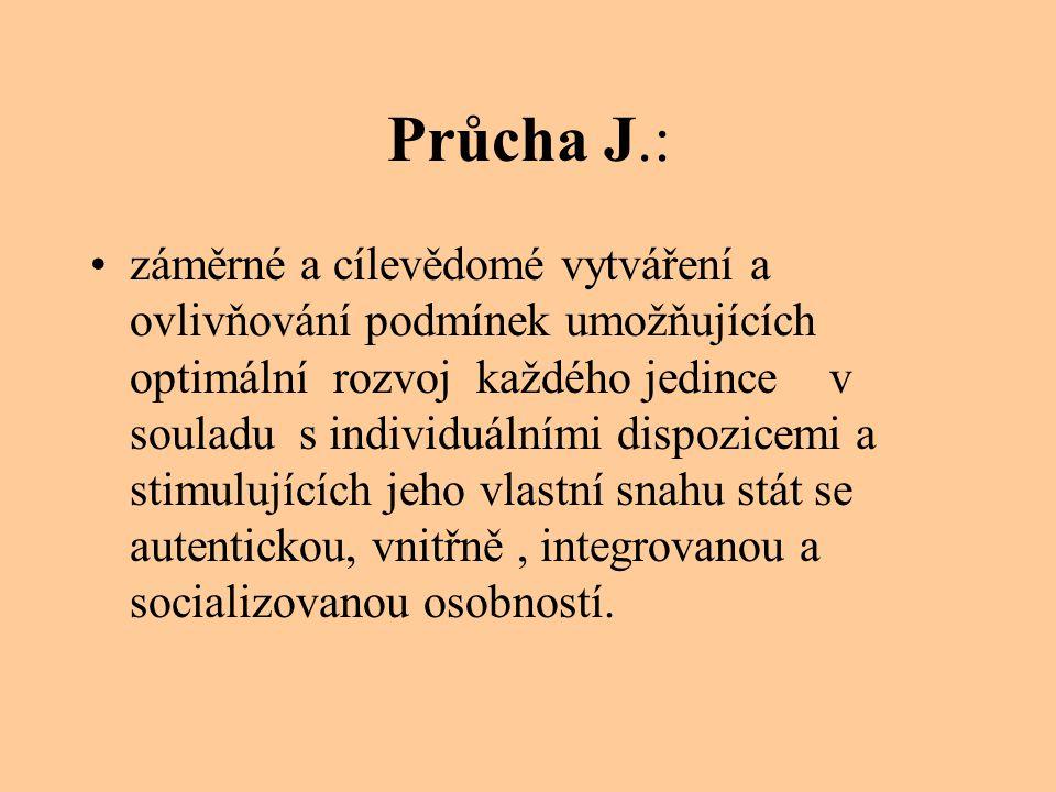 Průcha J.: