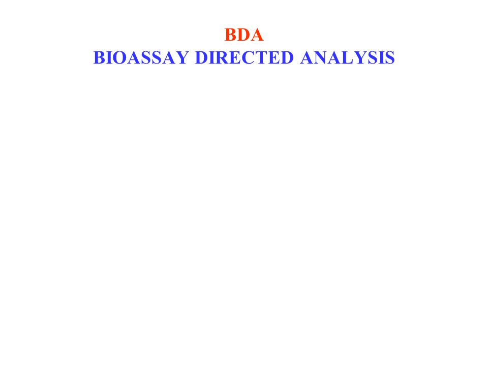 BDA BIOASSAY DIRECTED ANALYSIS