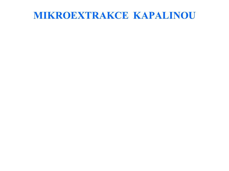 MIKROEXTRAKCE KAPALINOU