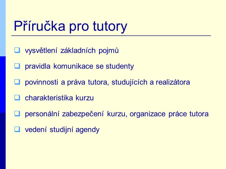 Příručka pro tutory vysvětlení základních pojmů
