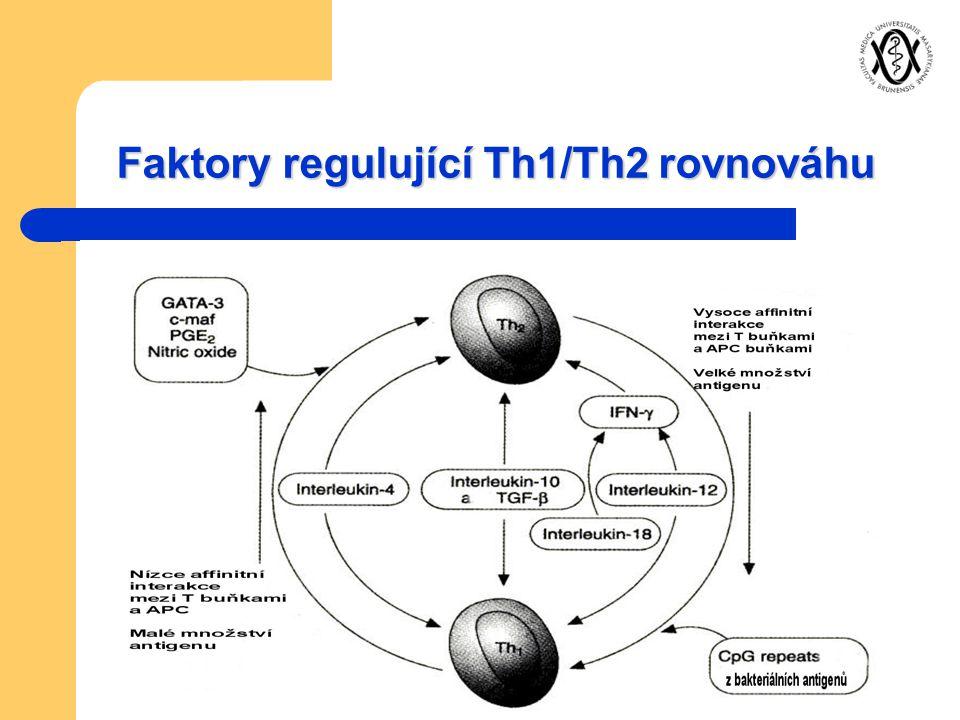 Faktory regulující Th1/Th2 rovnováhu