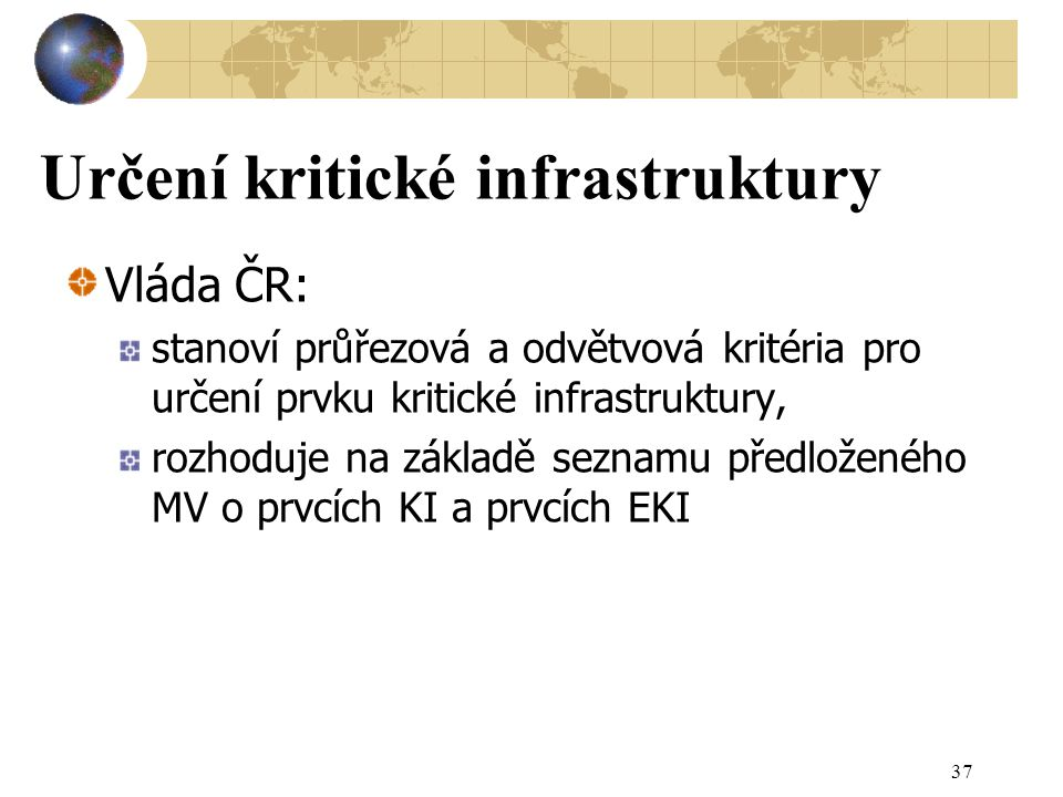 Určení kritické infrastruktury