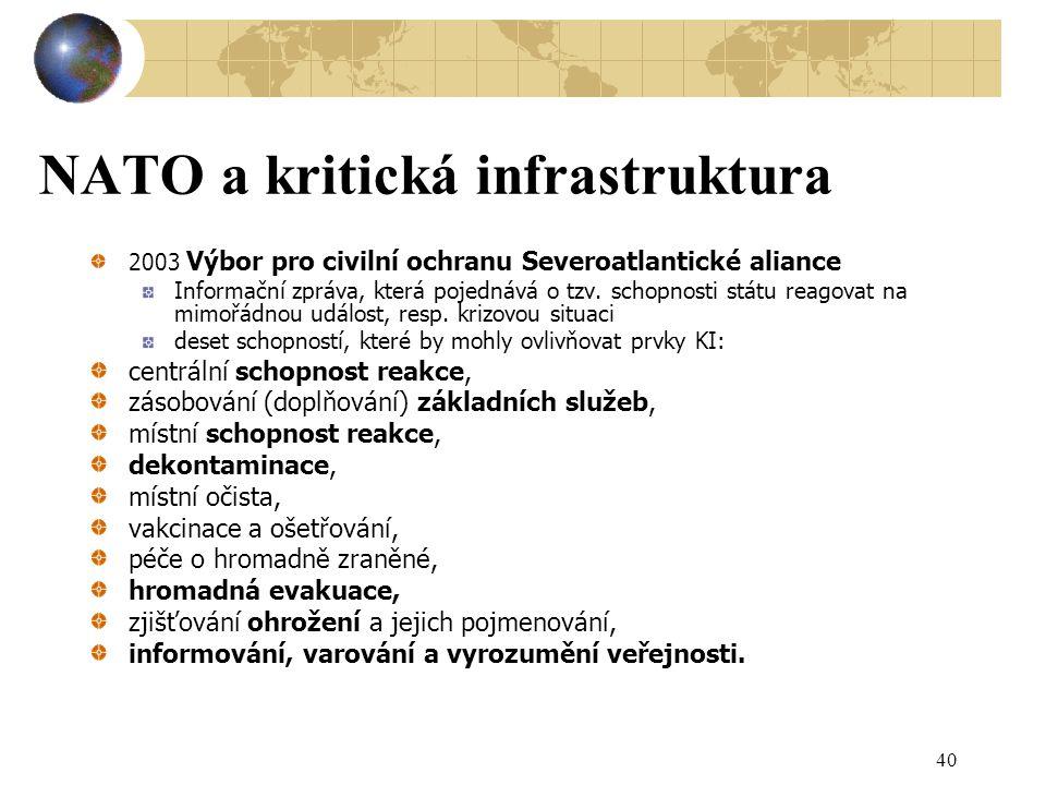 NATO a kritická infrastruktura