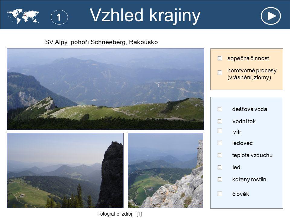 SV Alpy, pohoří Schneeberg, Rakousko