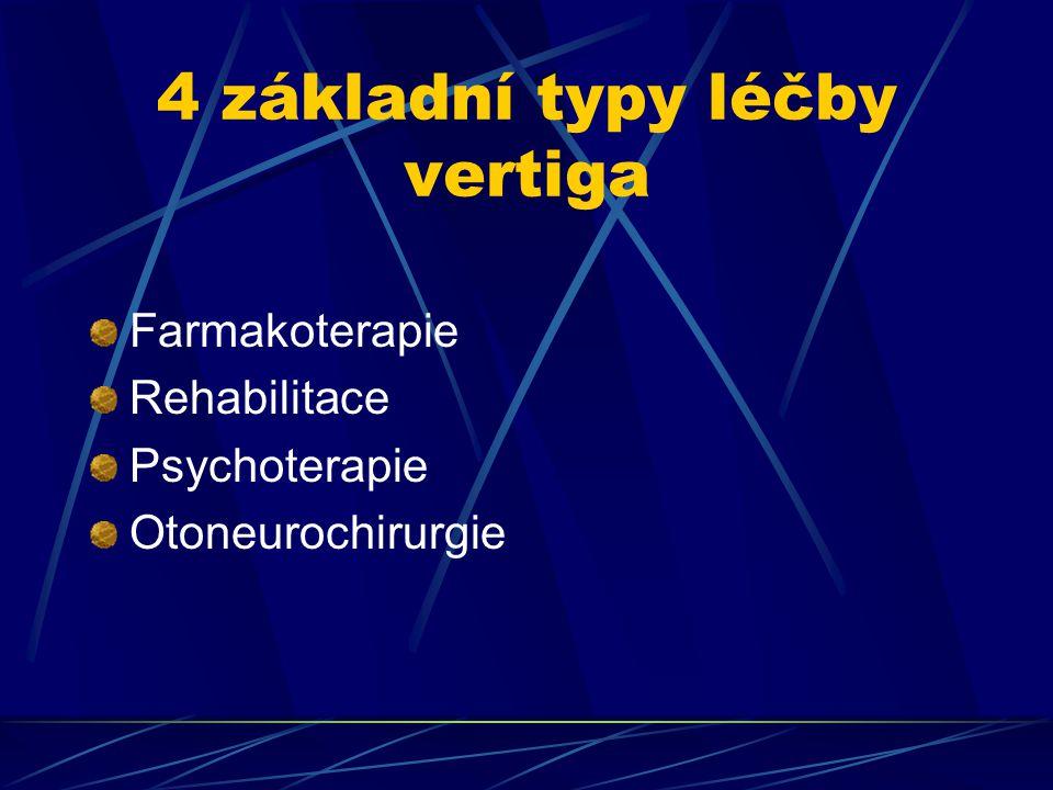 4 základní typy léčby vertiga