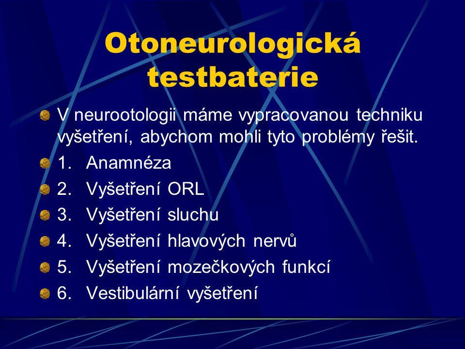 Otoneurologická testbaterie