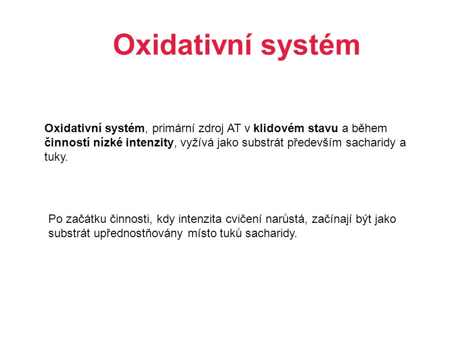 Oxidativní systém