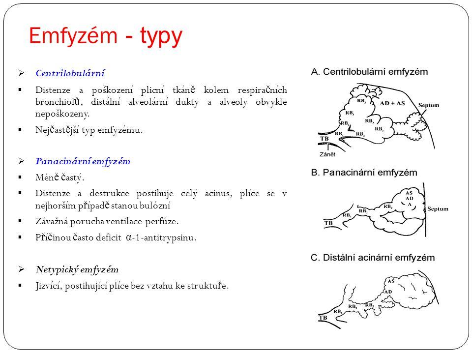 Emfyzém - typy Centrilobulární
