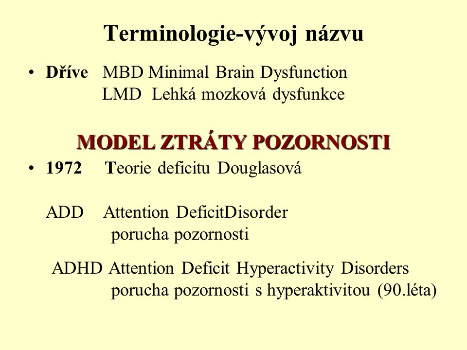 Terminologie-vývoj názvu
