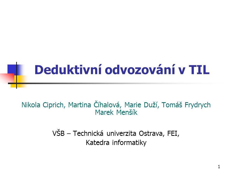 Deduktivní odvozování v TIL