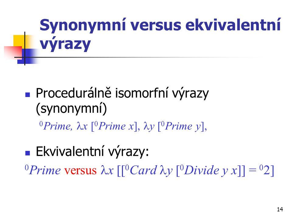 Synonymní versus ekvivalentní výrazy